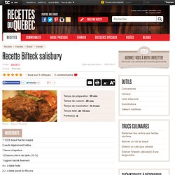 Recettes du Québec - Recette de Bifteck salisbury de Pierrot