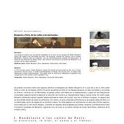 """007 - Articulo - Garikoitz Gamarra, """"Benjamin y Paris, de las calles a las barricadas"""""""