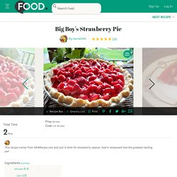 Big Boys Strawberry Pie Recipe