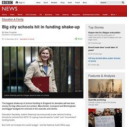Big city schools hit in funding shake-up