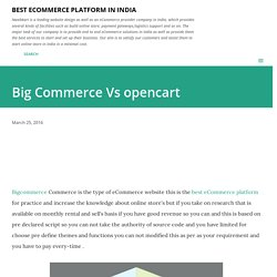 Big Commerce Vs opencart