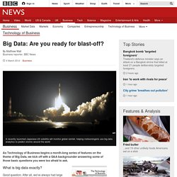 Big Data: Are you ready for blast-off?