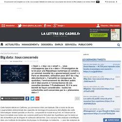 Big data : tous concernés