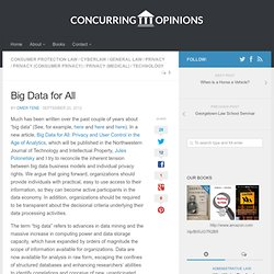 Big Data for All