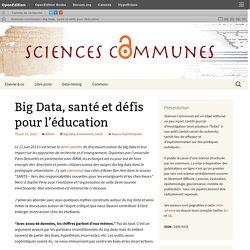 Big Data, santé et défis pour l'éducation