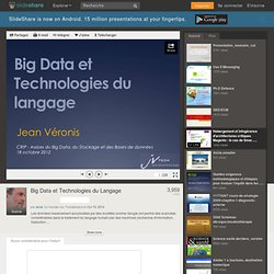 Slide - Big Data et Technologies du Langage