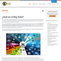 Big Data - TIC-tek!