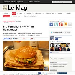 Big Fernand, l'Atelier du Hamburger