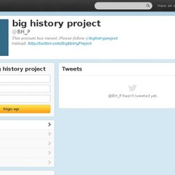 Big History Project (bh_p) sur Twitter
