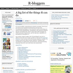 A big list of the things R can do