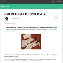 5 Big Mobile Design Trends of 2015