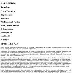 Big Science lyrics