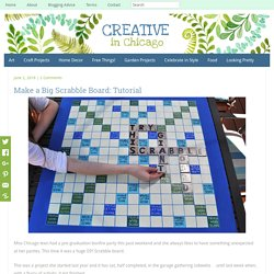Big Scrabble board Tutorial