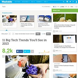 11 Big Tech Trends You'll See in 2013