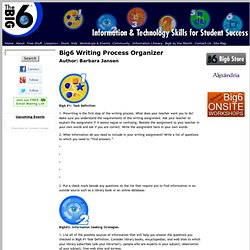 Writing Process Organizer - Big6