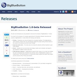 BigBlueButton 1.0-beta Released