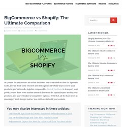 BigCommerce vs Shopify: The Ultimate Comparison