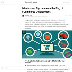 What makes Bigcommerce the King of eCommerce Development?
