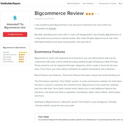 Bigcommerce Review 2015 - Site Builder Report