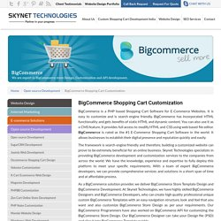 BigCommerce Shopping Cart Web Development - Skynet Technologies