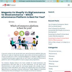 Magento Vs Shopify Vs BigCommerce Vs WooCommerce - Which eCommerce Platform Is Best For You? - CSSChopper