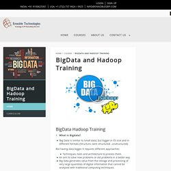 BigData Hadoop Training, BigData Online Courses in Hyderabad