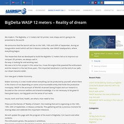 BigDelta WASP 12 meters - The reality of dreams