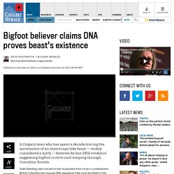 Bigfoot believer claims DNA proves beast's existence