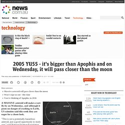 2005 YU55 - it's bigger than Apophis and on Wednesday, it will pass closer than the moon