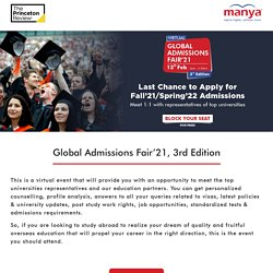 Virtual Global Admissions Fair'21, 3rd Edition