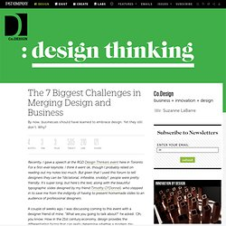 The 7 Biggest Challenges in Merging Design and Business