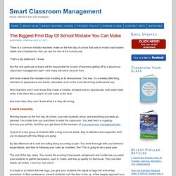 The Biggest First Day Of School Mistake You Can Make