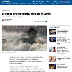Biggest cybersecurity threats in 2016