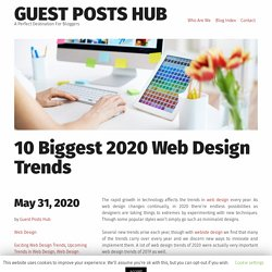 10 Biggest 2020 Web Design Trends