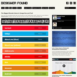 The Biggest Brands Colors in Image Hex and Text « Designer Found @DesignerFound.com