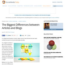 The Biggest Differences between Articles and Blogs