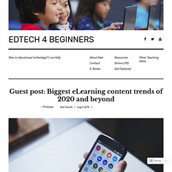 Guest post: Biggest eLearning content trends of 2020 and beyond