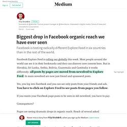 Biggest drop in Facebook organic reach we have ever seen