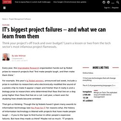 IT's biggest project failures