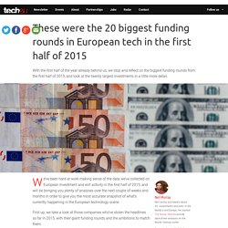 The 20 biggest funding rounds in European tech in H1 2015