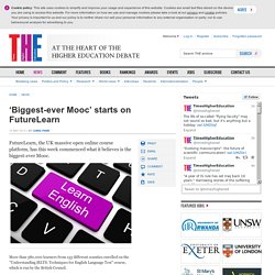 'Biggest-ever Mooc' starts on FutureLearn