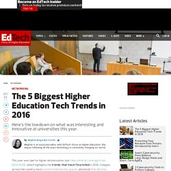 The 5 Biggest Higher Education Tech Trends in 2016