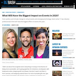 What Will Have the Biggest Impact on Events in 2020?
