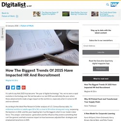 How The Biggest Trends Of 2015 Have Impacted HR And Recruitment