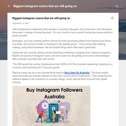 Biggest instagram scams that are still going on