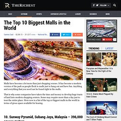 The Top 10 Biggest Malls in the World