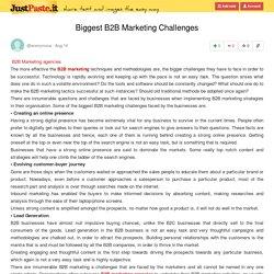 Biggest B2B Marketing Challenges