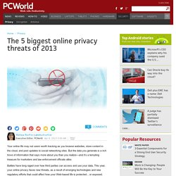 The 5 biggest online privacy threats of 2013
