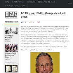 10 Biggest Philanthropists of All Time