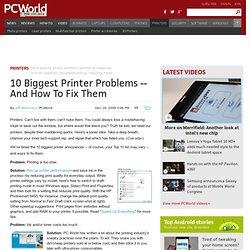 10 Biggest Printer Problems
